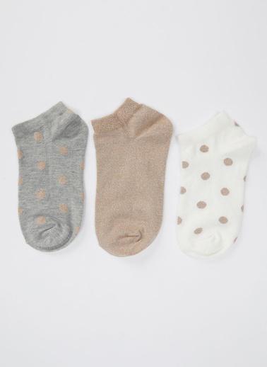 DeFacto 3'lü Kısa Çorap Renkli